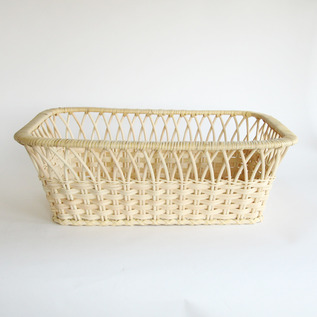 Wicker basket square type Yarai