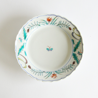 Flowers and Butterfly patterned plate 16.5cm