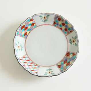 Red Patterned Plate