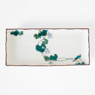 KUTANI BIRD ON IVY RECTANGULAR PLATE