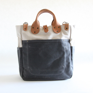 Tote Bag Garrison Carry All Natural Grey