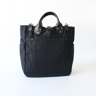 Tote Bag Garrison Carry All Black Waxed