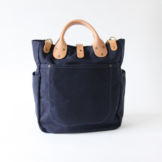 Tote Bag Garrison carryall Navy Waxed