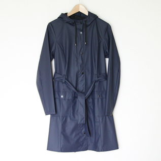 CURVE JACKET BLUE RAINCOAT