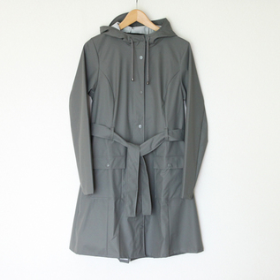 CURVE JACKET GREY RAINCOAT