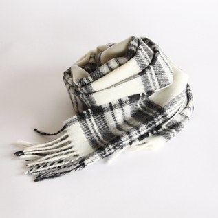 WOOL SCARF DRESS GREY STEWART