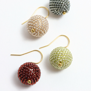 Bead ball earrings