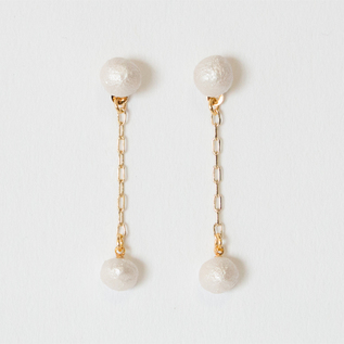 BESKOPE BABY PAPER PEARL DROP EARRINGS