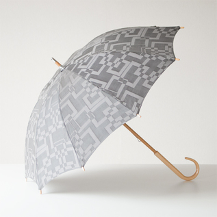 ALL-WEATHER UMBRELLA SQURE JACQUARD GREY