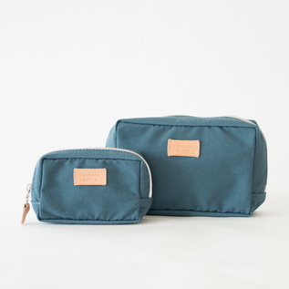【別注】SQUARE POUCH BLUE-GREY