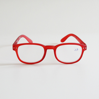 READING GLASSES B RED CRYSTAL
