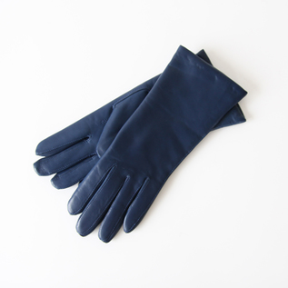 WOMEN LAMBSKIN GLOVES DENIM BLUE