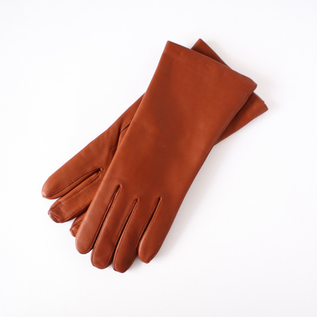 WOMEN LAMBSKIN GLOVES BRANDY