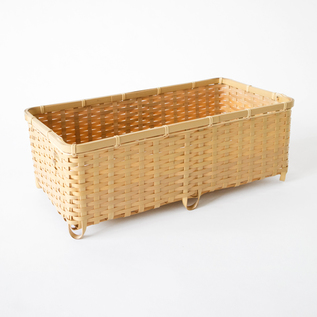 Ehime Prefecture Shiratake square basket with legs long square