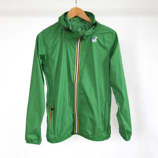 WOMEN Packable Windbreaker Green mid