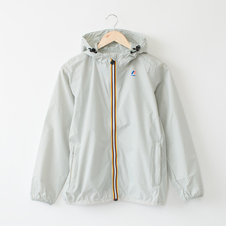 WOMEN PACKABLE WINDBREAKER GREY LT LEAD