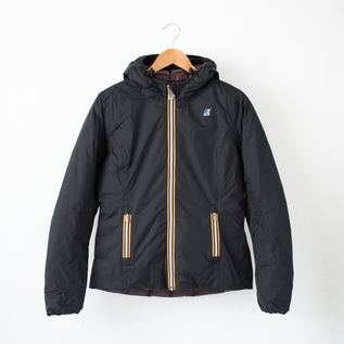 DOWNJACKET SHORT BLACK BROWN