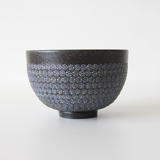 Green tea bowl Mishima