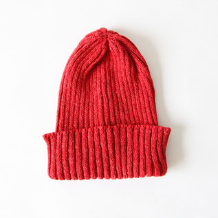 Cotton linen cap RED