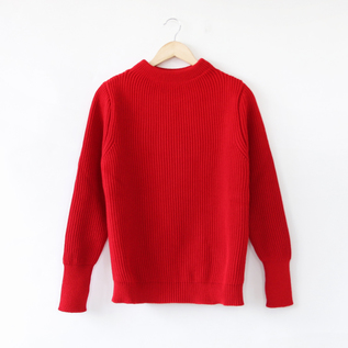 SAILOR SWEATER THE NAVY CREWNECK RED
