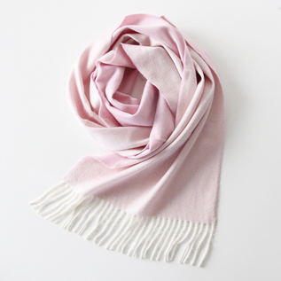 Stole Arran Semi Reversible White-Light Pink