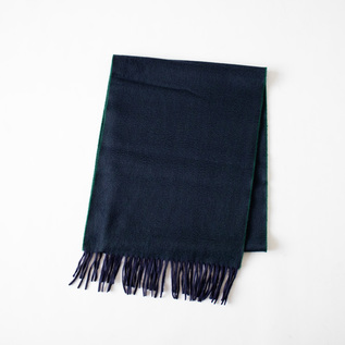 SCARF ARRAN SEMI REVERSIBLE NAVY TARTANGREEN