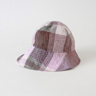 Alice Jr. Large Check Pink-Kids hat