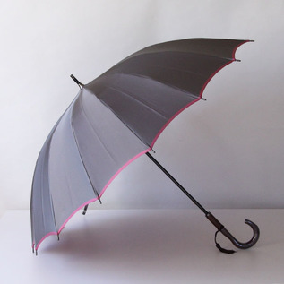 Koshu woven long umbrella Kasane Gray-Rose pink