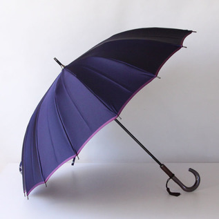 Koshu woven long umbrella Kasane Navy-Purple