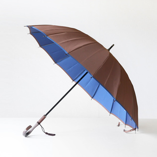 Koshu woven long umbrella Kasane brown-blue