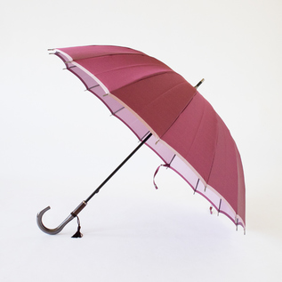 KOSHU WOVEN LONG UMBRELLA KASANE WINE PINK