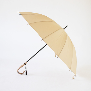 BAMBOO HANDLE UMBRELLA BEIGE