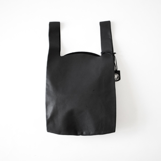 HALLIE LEATHER SHOPPING BAG