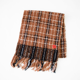 SCARF BROWN PLAID