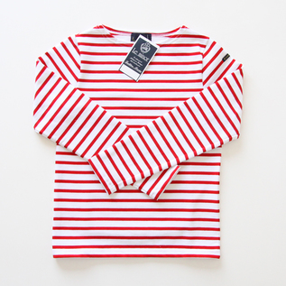 Le minor Basque shirt 007 BLANC ROUGE