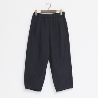 C L BACKSATIN PANTS NAVY