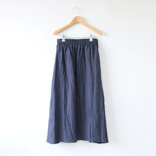 LINEN SWING SKIRT ANTHRACITE GREY