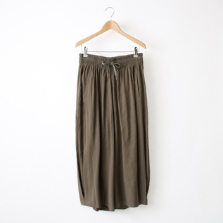 LINEN STRECH WIDE PANTS