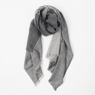 WOOL CASHMERE PANEL STOLE