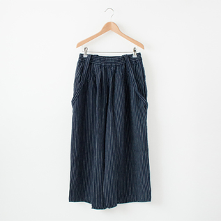 LINEN WIDE PANTS WITH STRAPS