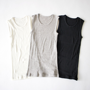 COTTON WOOL CIRCULAR KNITTING TANK TOP