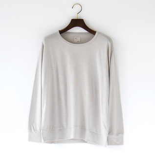 SUPER120 WOOL CREW NECK TOP