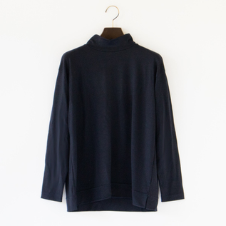 SUPER120 WOOL MOCK NECK TOP