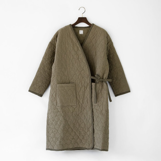 QUILTED DRESS GOWNCOAT