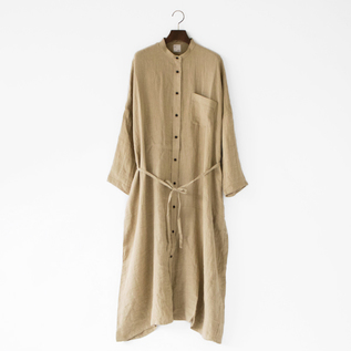 HERRINGBONE LINEN SHIRT DRESS