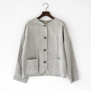 LINEN INK DYED JACKET