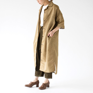 NYLON TWILL COAT DRESS
