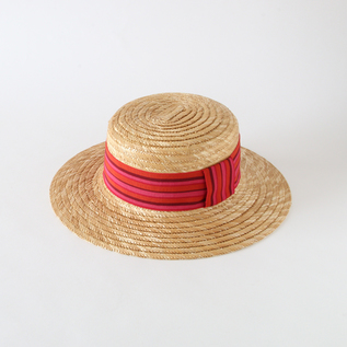 Straw Hat French Cancan France ribbon
