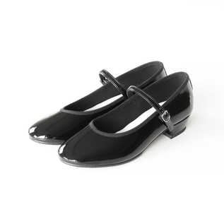 Low-heeled one-strap shoes Patent Black