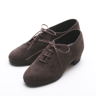 ローヒールシューズ  JazzTap Shoe  Suede chocolate
